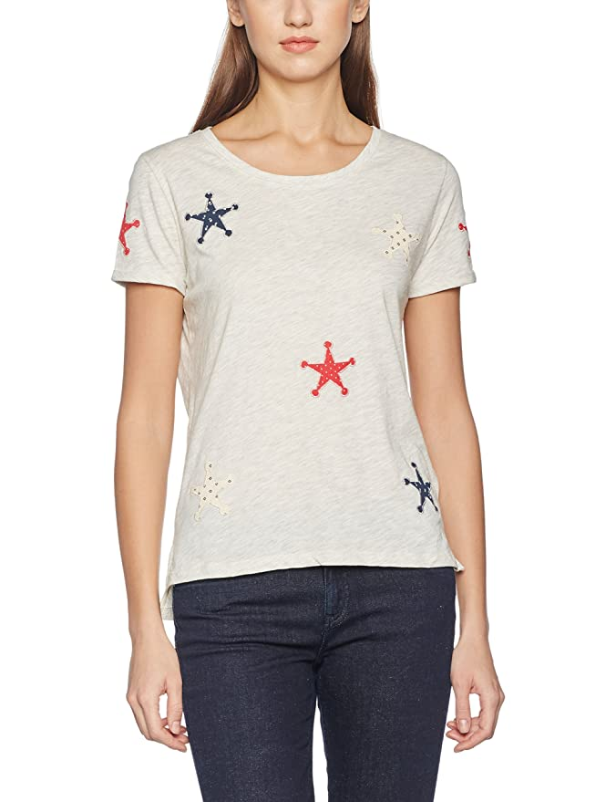 Womens Cold Dyed S/S Tee with Various Artworks at Chest T-Shirt Scotch & Soda Buy Cheap Order SFCQwbFca
