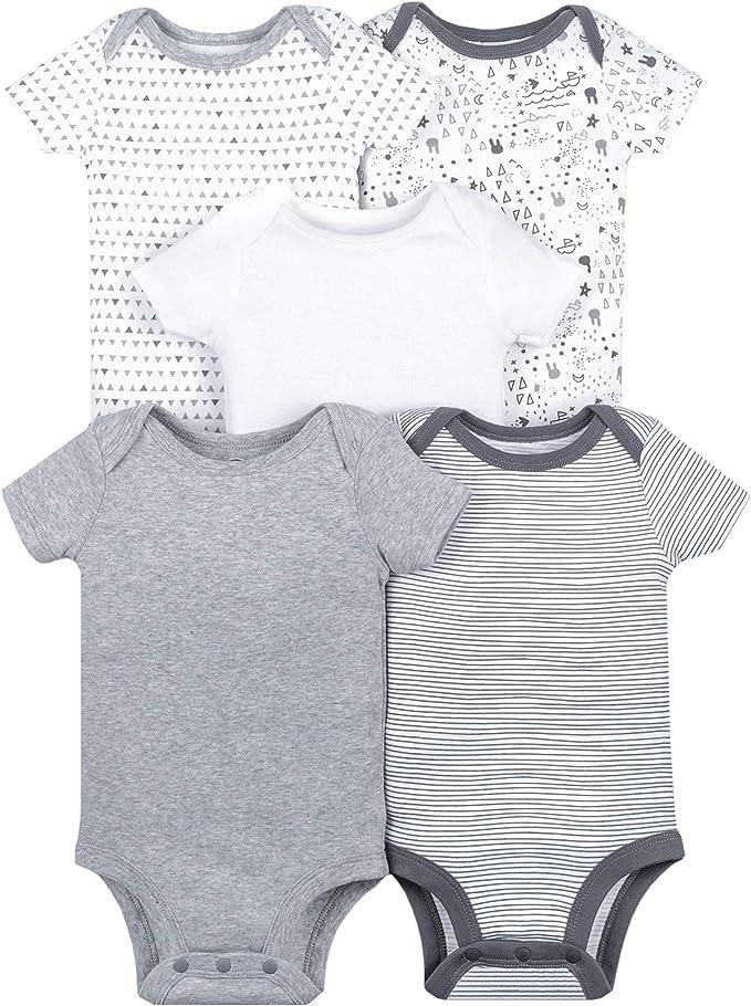 Lamaze Organic Baby Infant Lamaze Baby Organic 5 Pack Shortsleeve Bodysuits