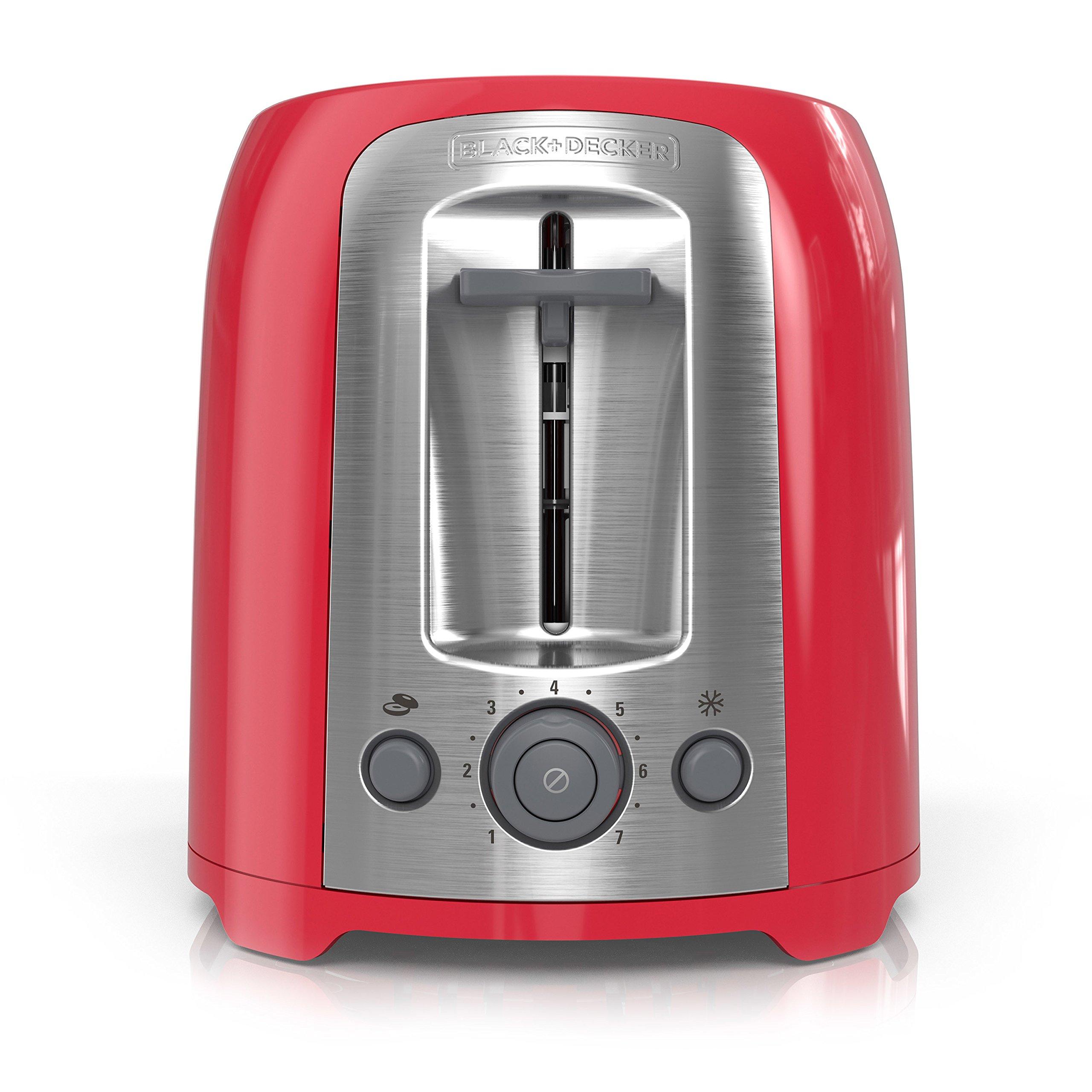BLACK+DECKER 2-Slice Toaster, Red, TR1278RM by BLACK+DECKER (Image #8)