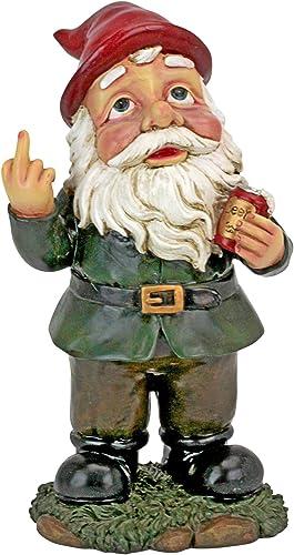 Design Toscano QL1530771 Foul Finger Tipsy Tim Beer Garden Gnome Statue