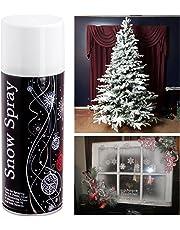 Fake Snow White Spray Paint Artificial Flake Xmas Craft Stencil Festive Fun Christmas Decoration For Trees Plants Mirrors Glass