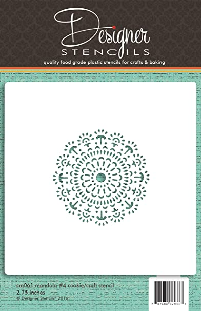 designer stencils Circle of Hearts Cookie and Craft Stencil CM046 by
