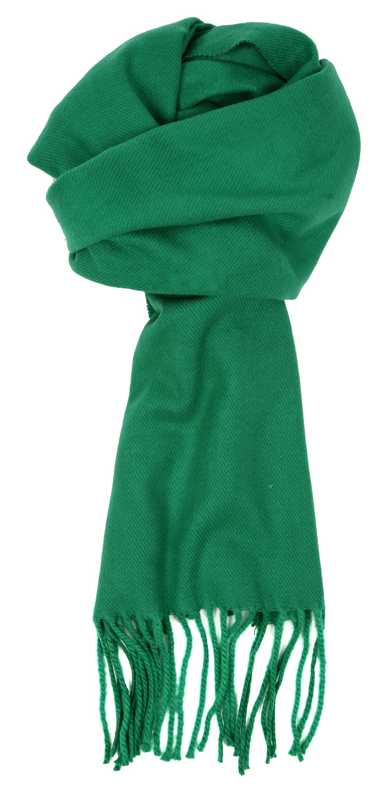 Love Lakeside-Women's Cashmere Feel Winter Solid Color Scarf 0-Kelly Green