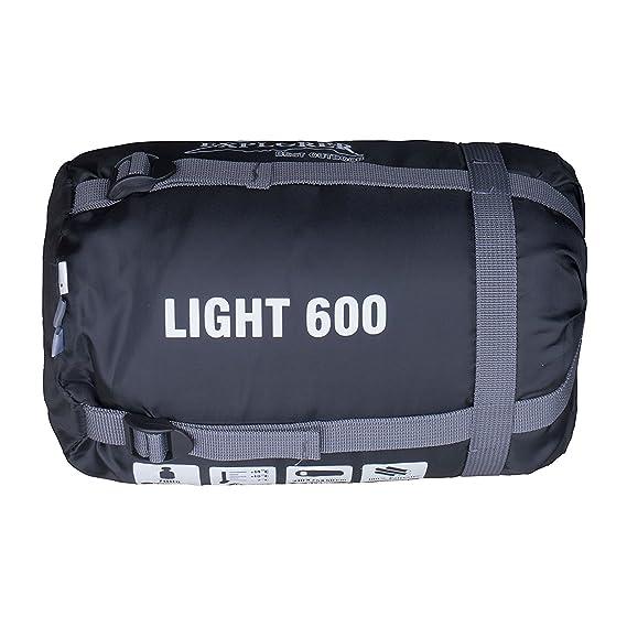 Explorer Light 600 Mumienschlafsack - Saco de dormir momia para acampada, color, talla 210 x 75 x 50 cm: Amazon.es: Deportes y aire libre