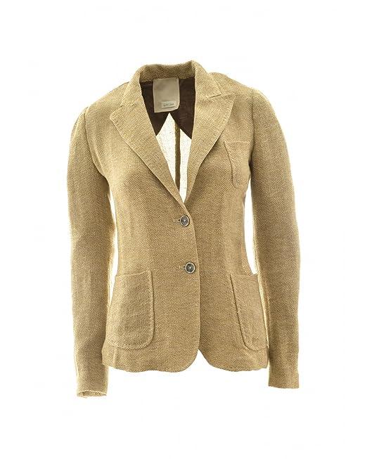 Gold Donna Di Lino Giacca Amazon Case it Abbigliamento rCa1qwxr