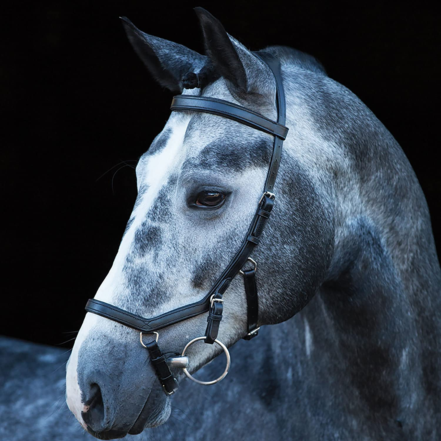 Black M Black M Horseware Rambo Micklem Deluxe Competition Letter English Leather Bridle
