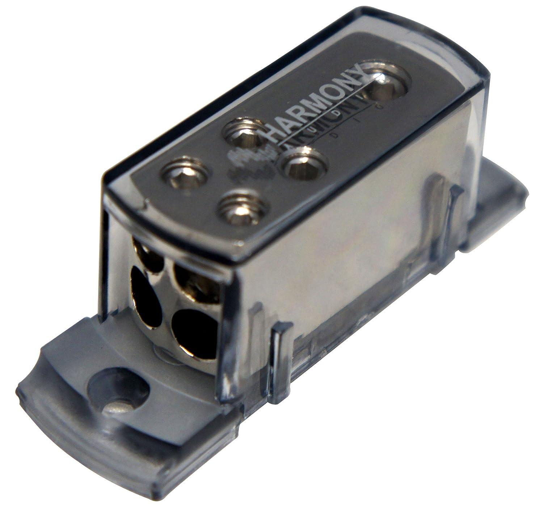 Harmony Audio HA-NFD2 Car Audio Wire Distribution Block 8GA Out 2 1 4GA in