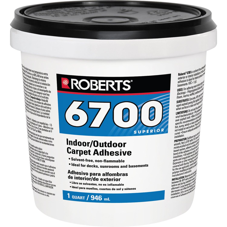 ROBERTS 6700-0 Carpet Adhesive, 1 Quart, Creamy Tan
