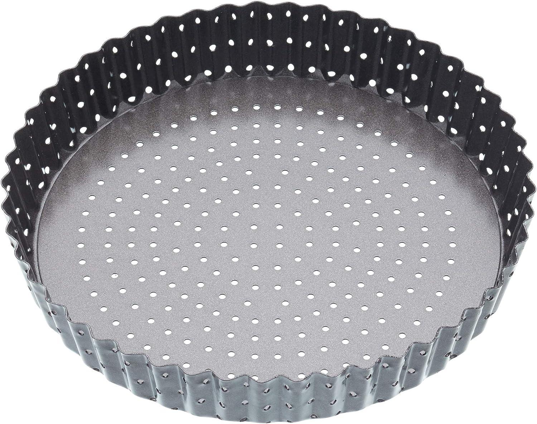 NEW KitchenCraft MasterClass Crusty Bake Non Stick Pastry Flan Tin Grey 25 Cm M
