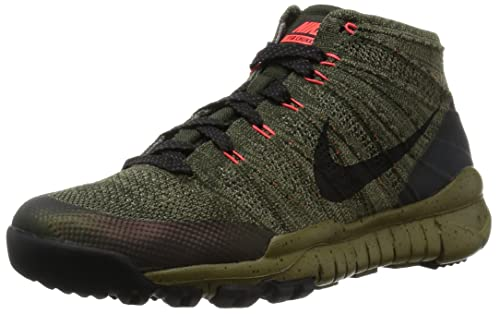 new style 7d920 afdca Nike Mens Flyknit Trnr Trainer Chukka FSB Sequoia Black Fabric Size 10.5   Buy Online at Low Prices in India - Amazon.in