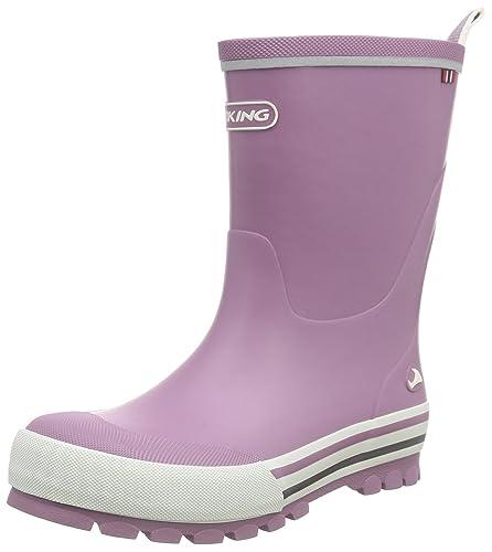 Viking Jolly, Unisex-Kinder Langschaft Gummistiefel, Pink (Fuchsia/White 1701), 28 EU