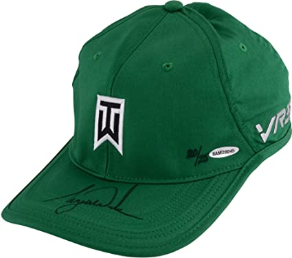 Tiger Woods Autographed Green Nike Victory Hat - Upper Deck - Fanatics  Authentic Certified - Autographed Golf Hats and Visors at Amazon s Sports  ... a56c7601d951
