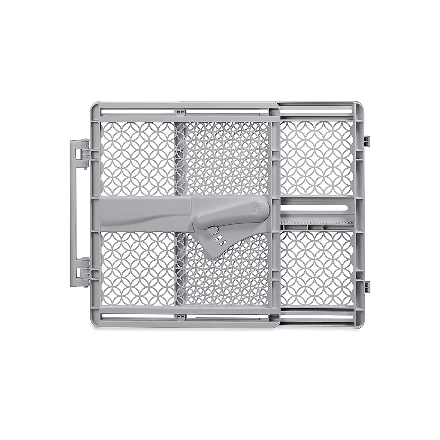"""Summer Infant Indoor & Outdoor Multi-Function Walk-Thru Plastic Gate Baby Gate, Gray – 28"""" Tall, Fits Openings 27""""-41"""" Wide Without Hinge and 26""""-42"""" Wide with Hinge, Baby and Pet Gate"""