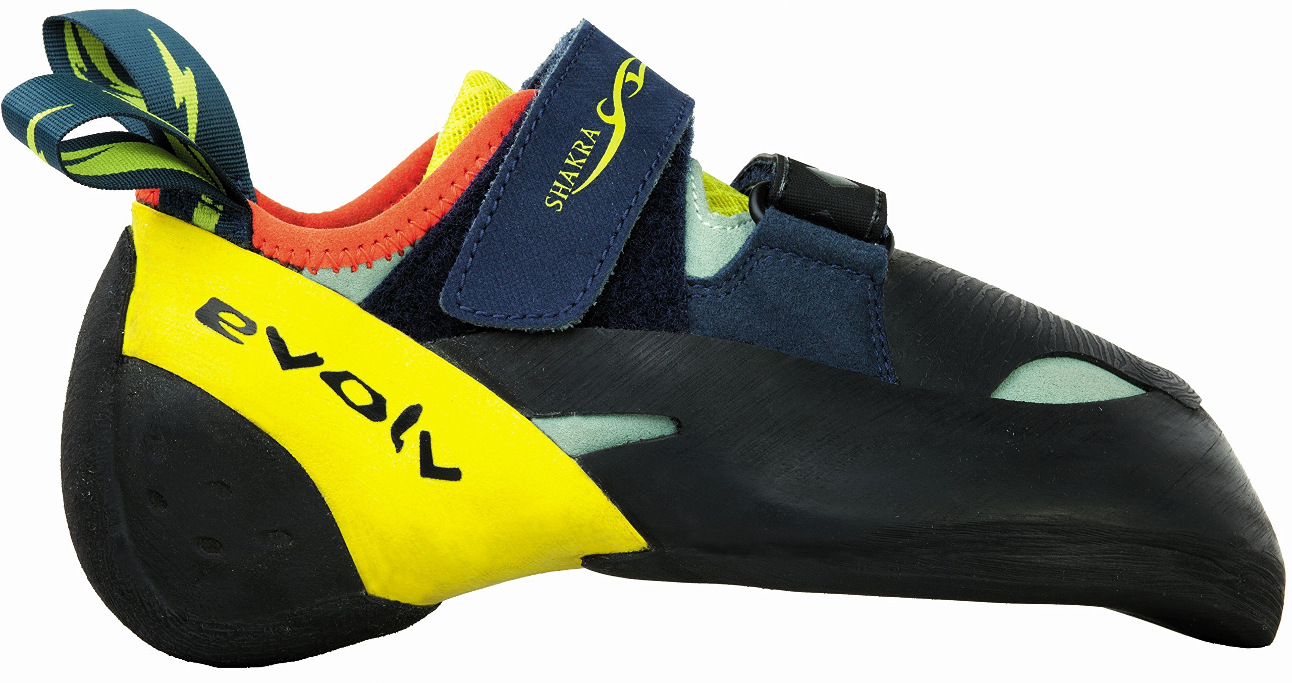 Evolv Shakra Climbing Shoe - Aqua/Neon Yellow 6.5
