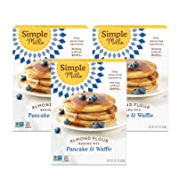 Simple Mills Almond Flour Pancake Mix & Waffle Mix, Gluten Free, Made with whole...