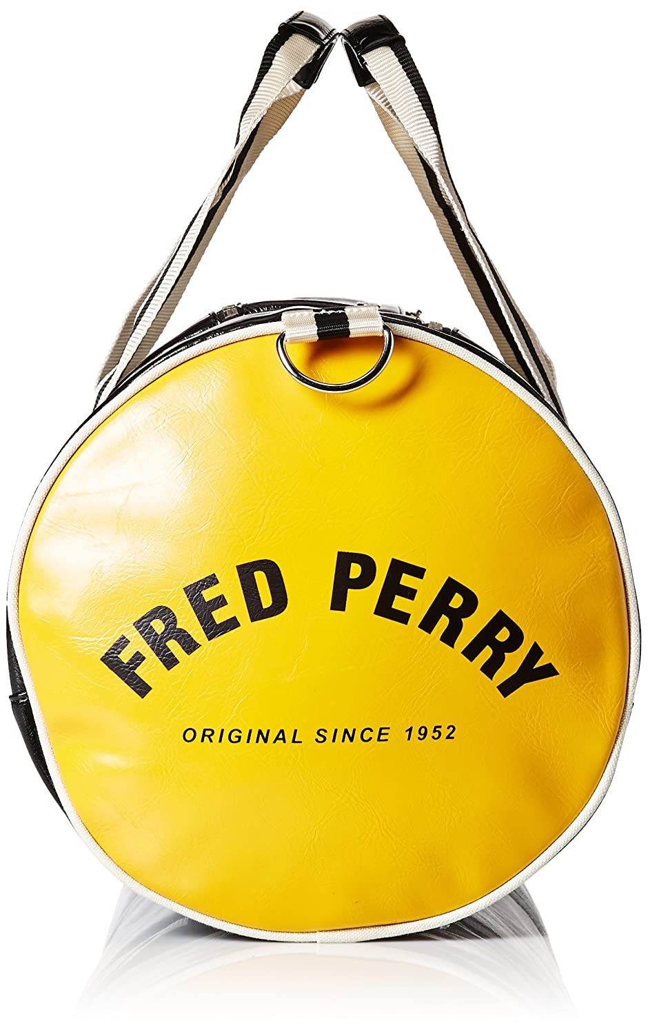 cac242217 Fred Perry Classic Barrel Bags Black Yellow - One Size: Amazon.co.uk: Shoes  & Bags