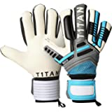 Goalkeeper Gloves Nitro NC Neo with Flexible Professional Quality T1TAN | Finger Protection Goalkeeper Gloves with Inner Seam Cut, 4 mm & Elastic 2-Way Bandage Gecko Grip – Size 8 9 10 11