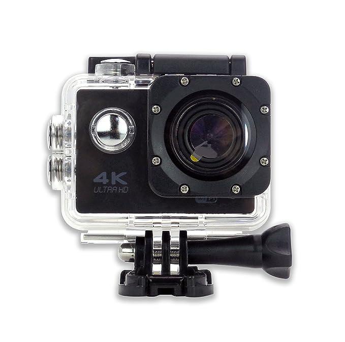 Amazon.com : Camara Deportiva S6 4K NEGRA 30cps WIFI Alta Definicion Videocamara Resistente al Agua 16MP Angulo de 170 grados Pantalla LCD de 2 pulgadas ...