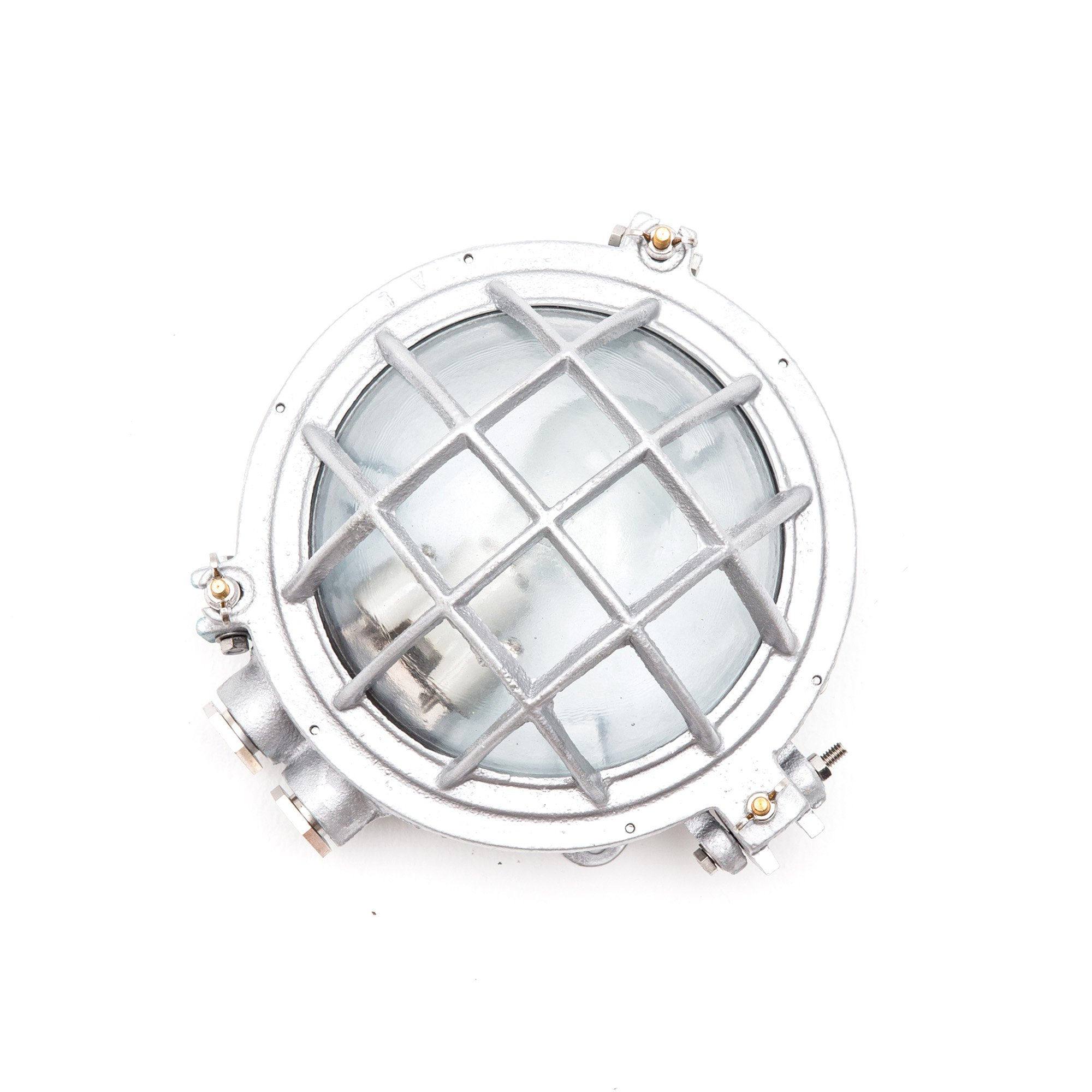 Cocoweb Temora Bulkhead Wall Sconce | LED Light Bulb Included | with Exposed Hardware Cage Design … (Silver)