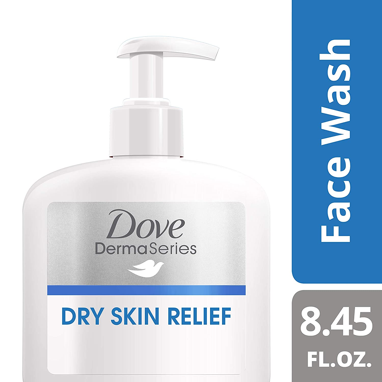 Dove DermaSeries Fragrance-Free Face Wash, for Dry Skin, 8.45 oz