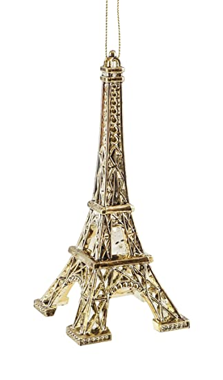 Image Unavailable. Image not available for. Color: French Eiffel Tower  Gold-colored Hanging Christmas Ornament - Amazon.com: French Eiffel Tower Gold-colored Hanging Christmas