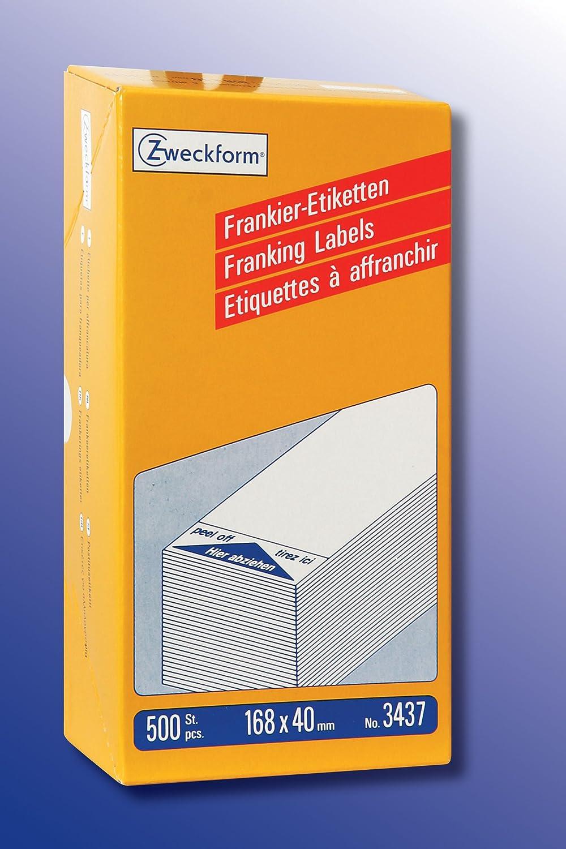AVERY Zweckform Zweckform Zweckform 3434 Frankier-Etiketten (Papier matt, 1.000 Etiketten, 128 x 38 mm) 1 Pack weiß B001JYN9O0   Maßstab ist der Grundstein, Qualität ist Säulenbalken, Preis ist Leiter  93d170