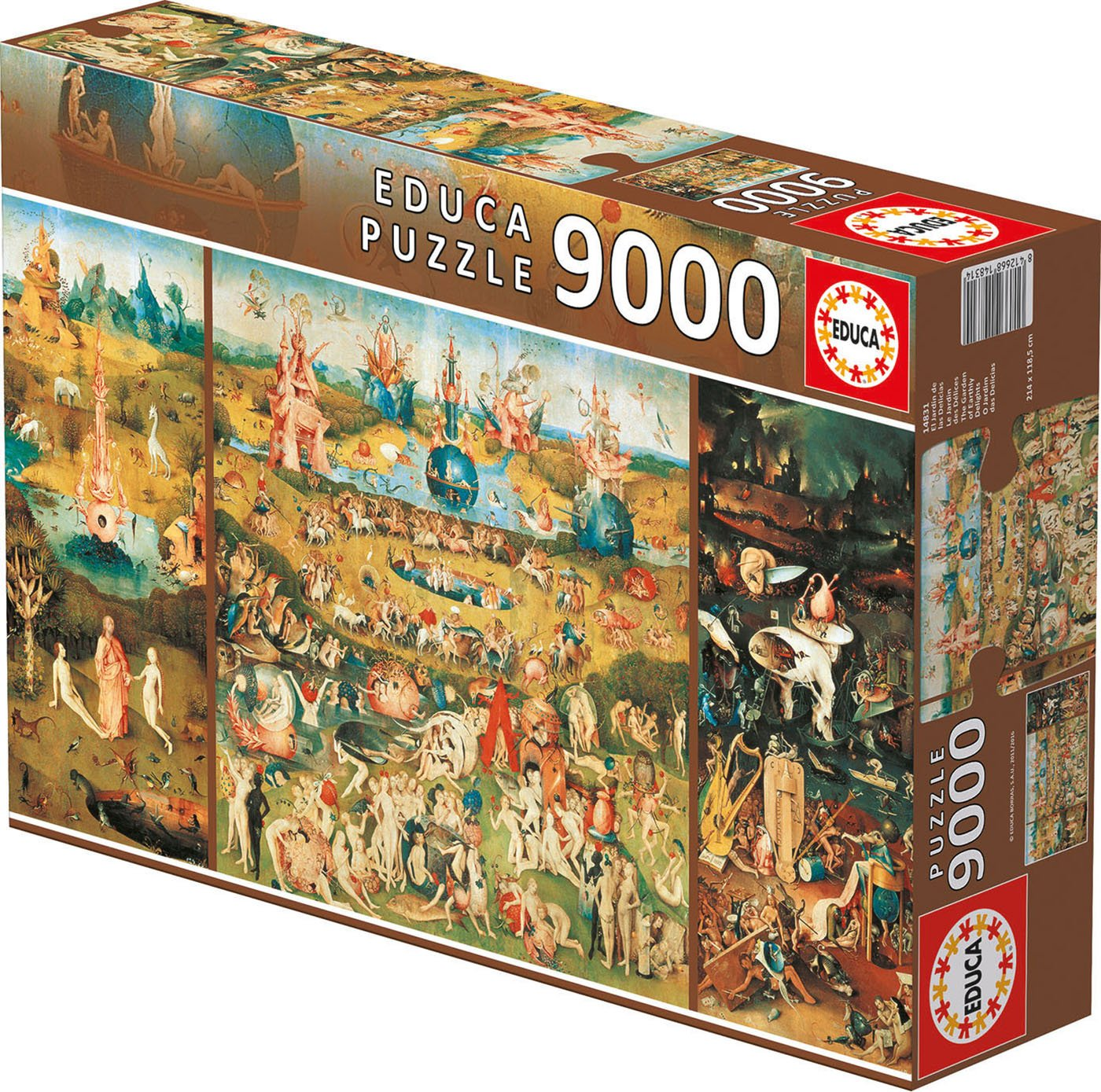 Amazon.com: 9,000 Piece Puzzle - The Garden Of Earthly Delights ...