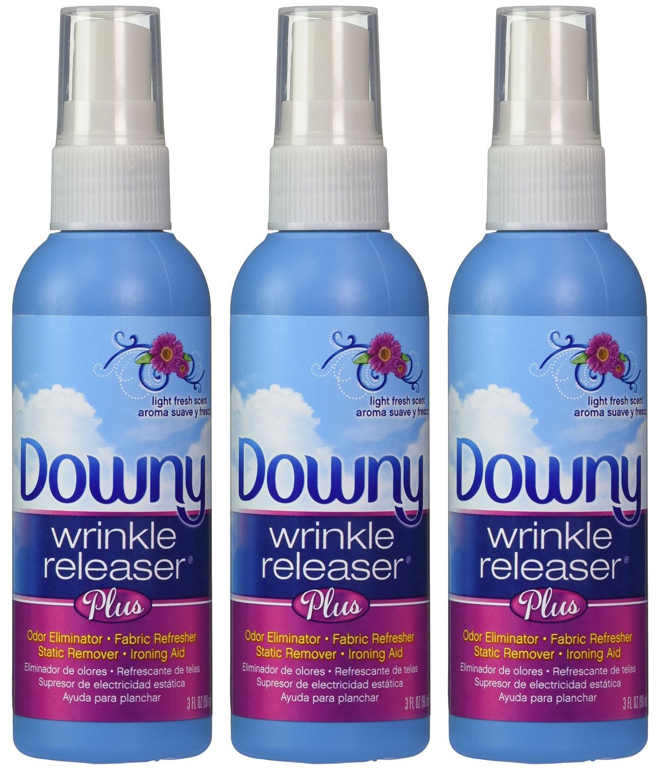 Downy Wrinkle Releaser, Travel Size Light Fresh Scent 3 fl oz - 3 Pack