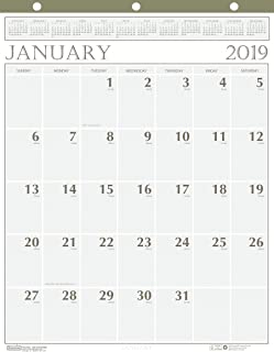 product image for House of Doolittle 2019 Monthly Wall Calendar, Classic, 20 x 26 Inches, January - December (HOD380-19)