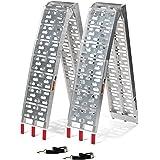 Titan 7.5 FT Aluminum Plate Top Ramp 2PK 1,500 LB Capacity Lawn Mower ATV Truck Loading Ramps