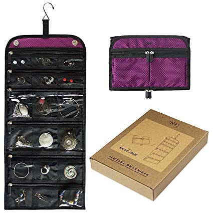 Amazoncom Jaimie Hanging Jewelry Case Compact Portable Size