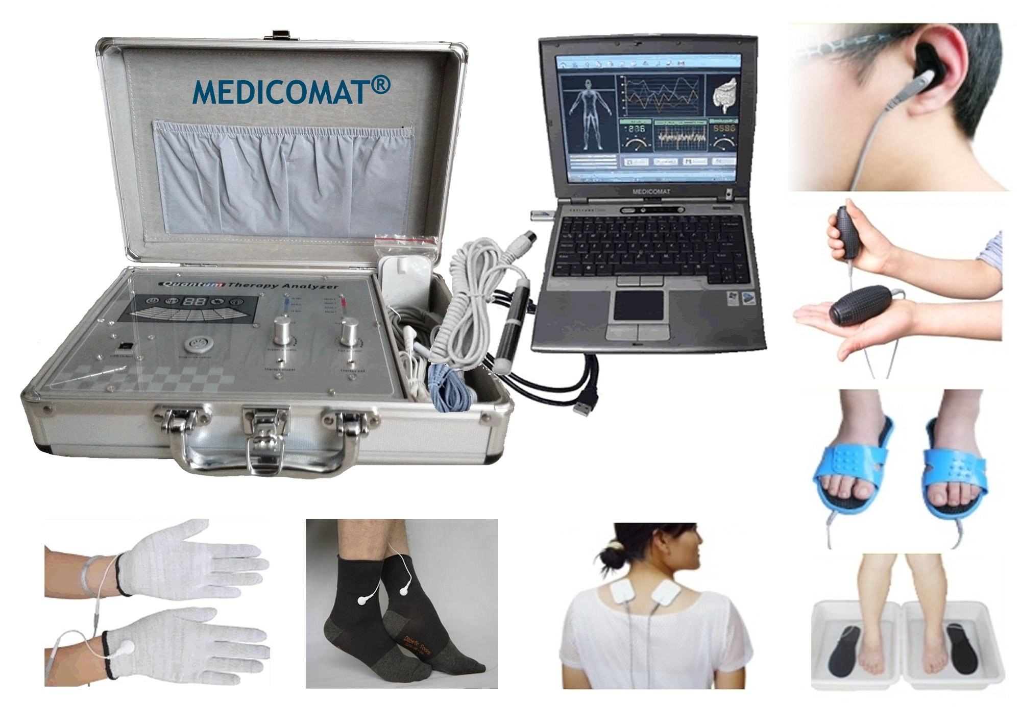 Stress Test Results Medicomat-291B Health Test Status In Minutes and Treatments Personal Diagnostic Health Computer (M - Middle Glove/Sock)