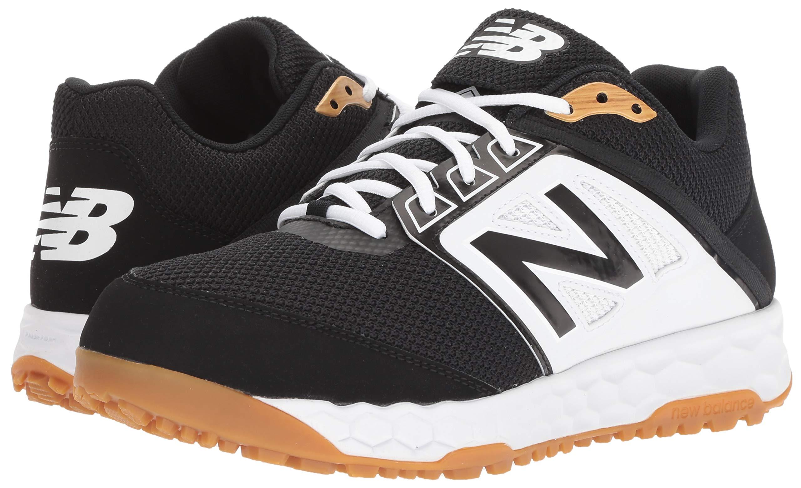 New Balance Men's 3000v4 Turf Baseball Shoe, Black/White, 5 D US by New Balance (Image #6)