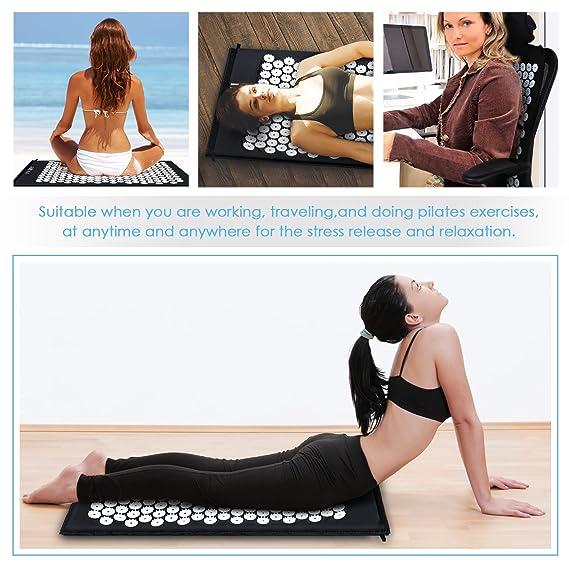 Amazon.com: intey Estera de acupresión y funda de almohada ...