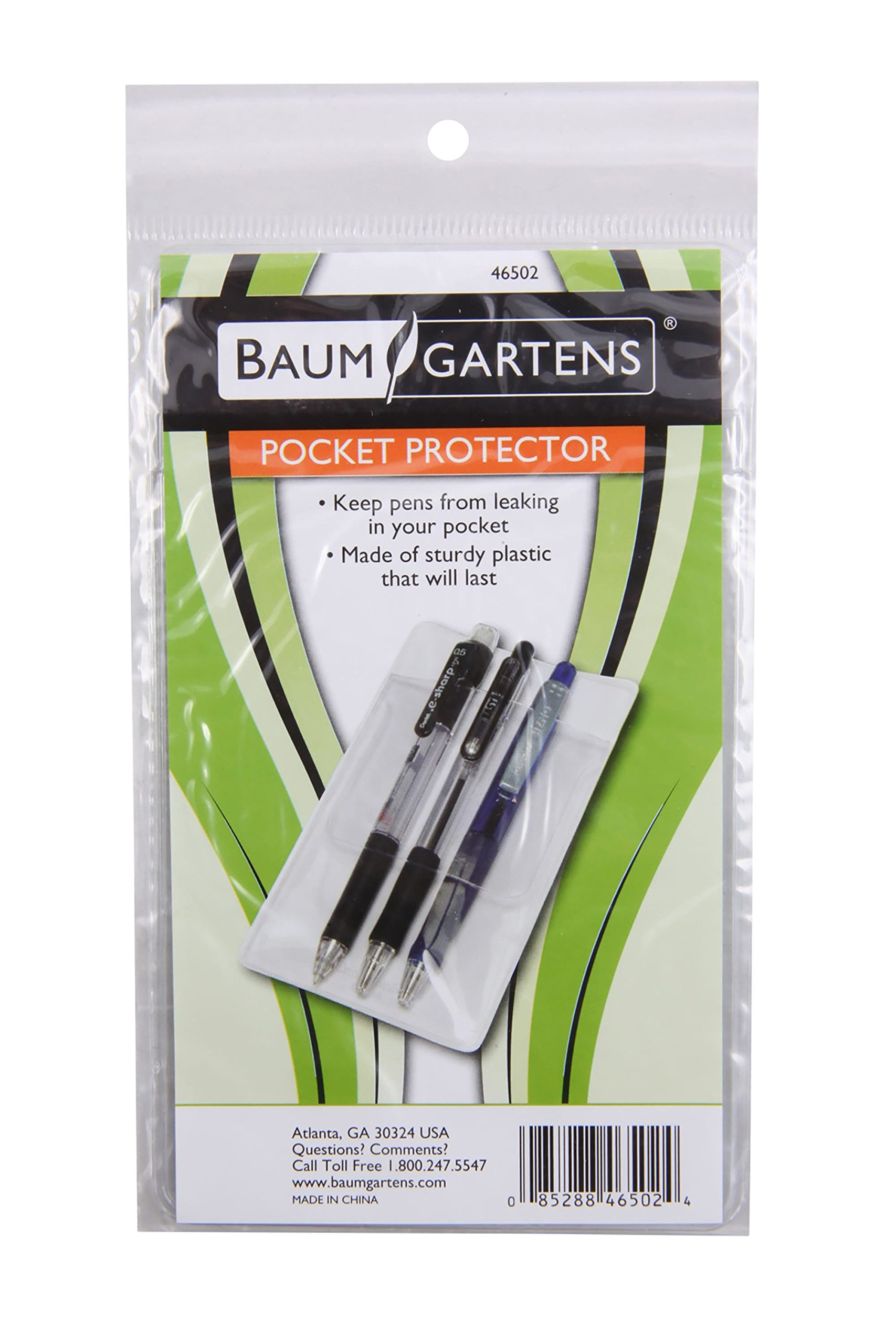 Baumgartens Pocket Protectors Clear (Pack of 48) (46502) by Baumgartens (Image #3)