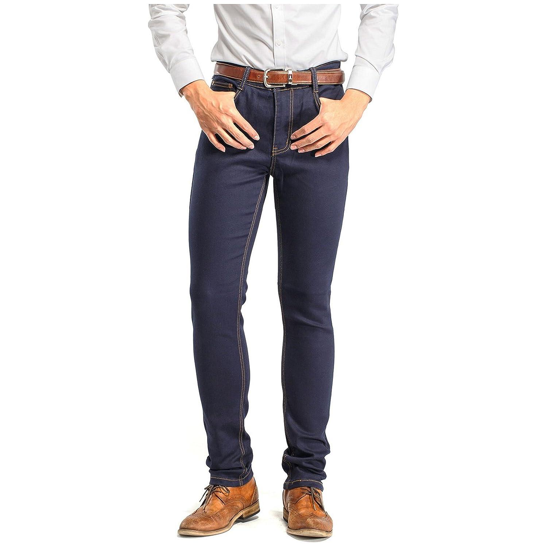 Robelli Men/'s Designer Slim Denim Stretch Jeans Dark Blue 36W