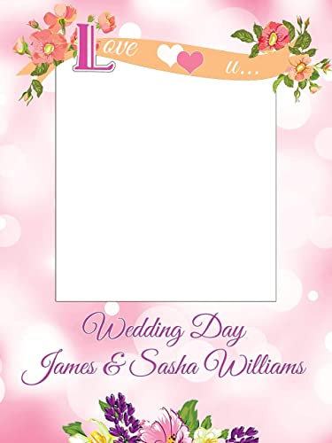 Amazoncom Custom Flowers On A Pink Background Wedding