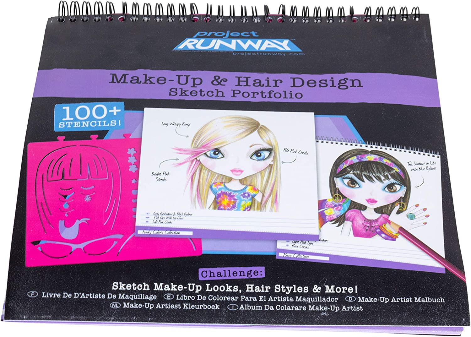 Amazon Com Fashion Angels Project Runway Make Up Design Sketch Portfolio Toys Games