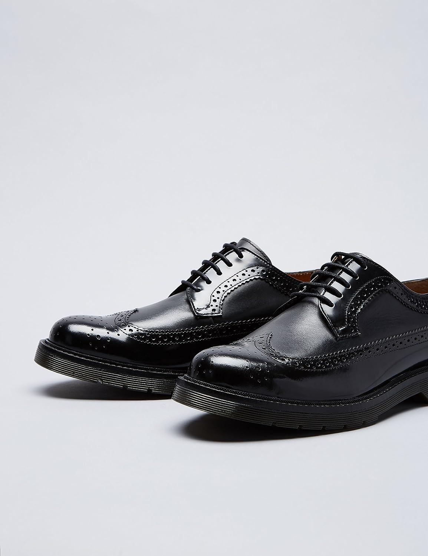 Find Zapatos de Piel Brogue para Mujer, Negro (Black), 40 EU