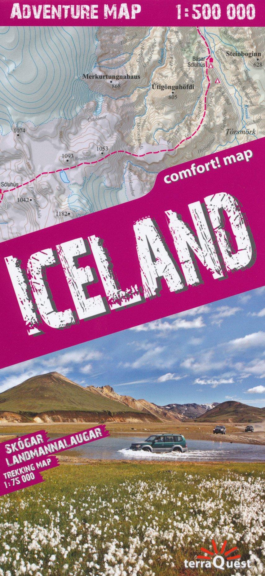 Download Iceland 1:500,000 Adventure map & Landmannalaugar 1:75,000, laminated, GPS-compatible TQ pdf