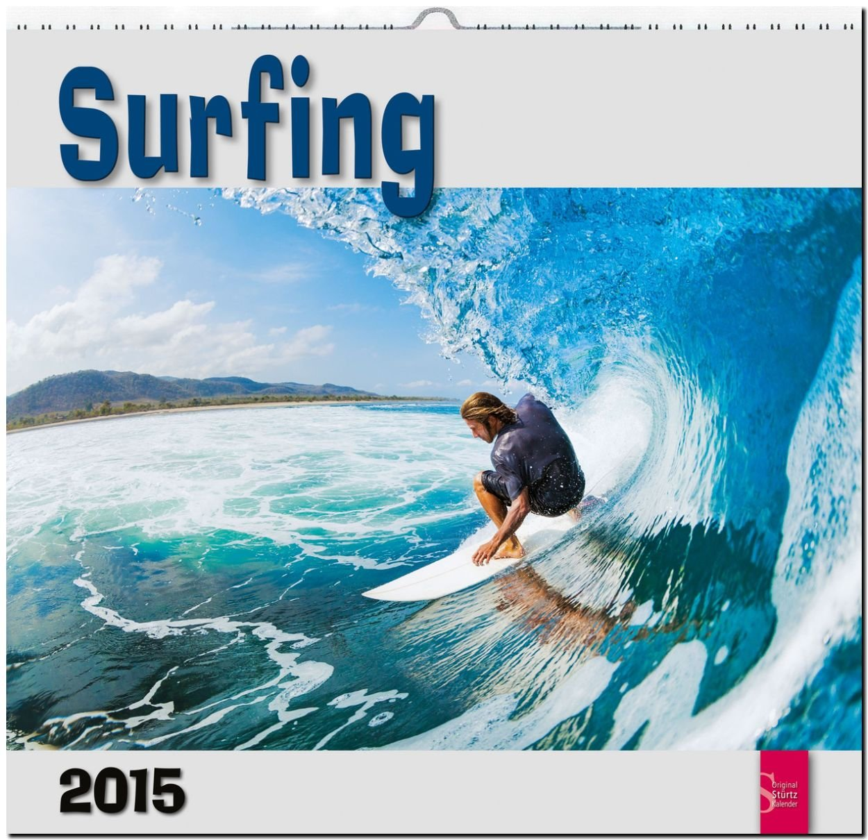 Surfing 2015 - Original Stürtz-Kalender - Mittelformat-Kalender 33 x 31 cm