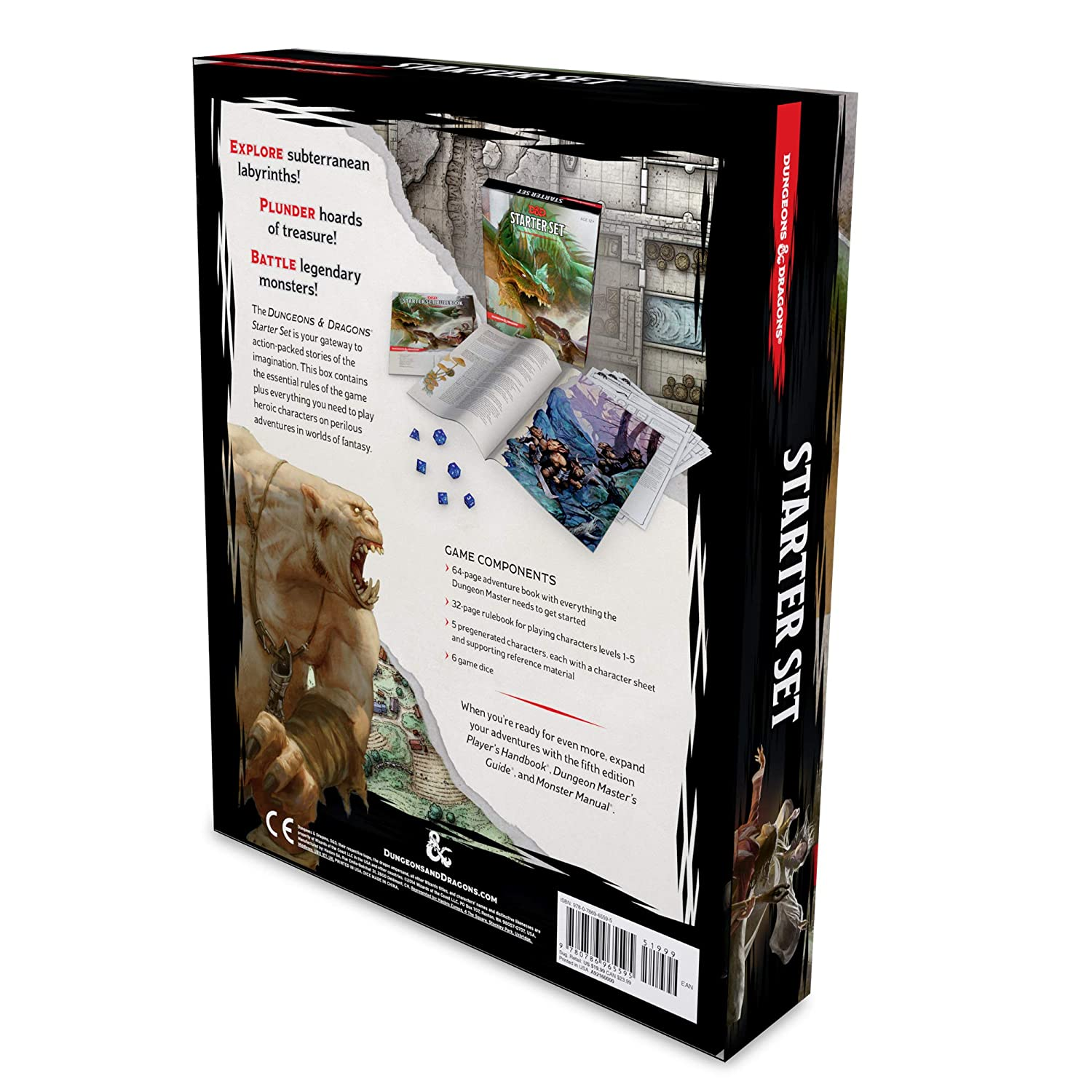 Dungeons & Dragons Starter Set Six Dice, Five Ready-to-Play