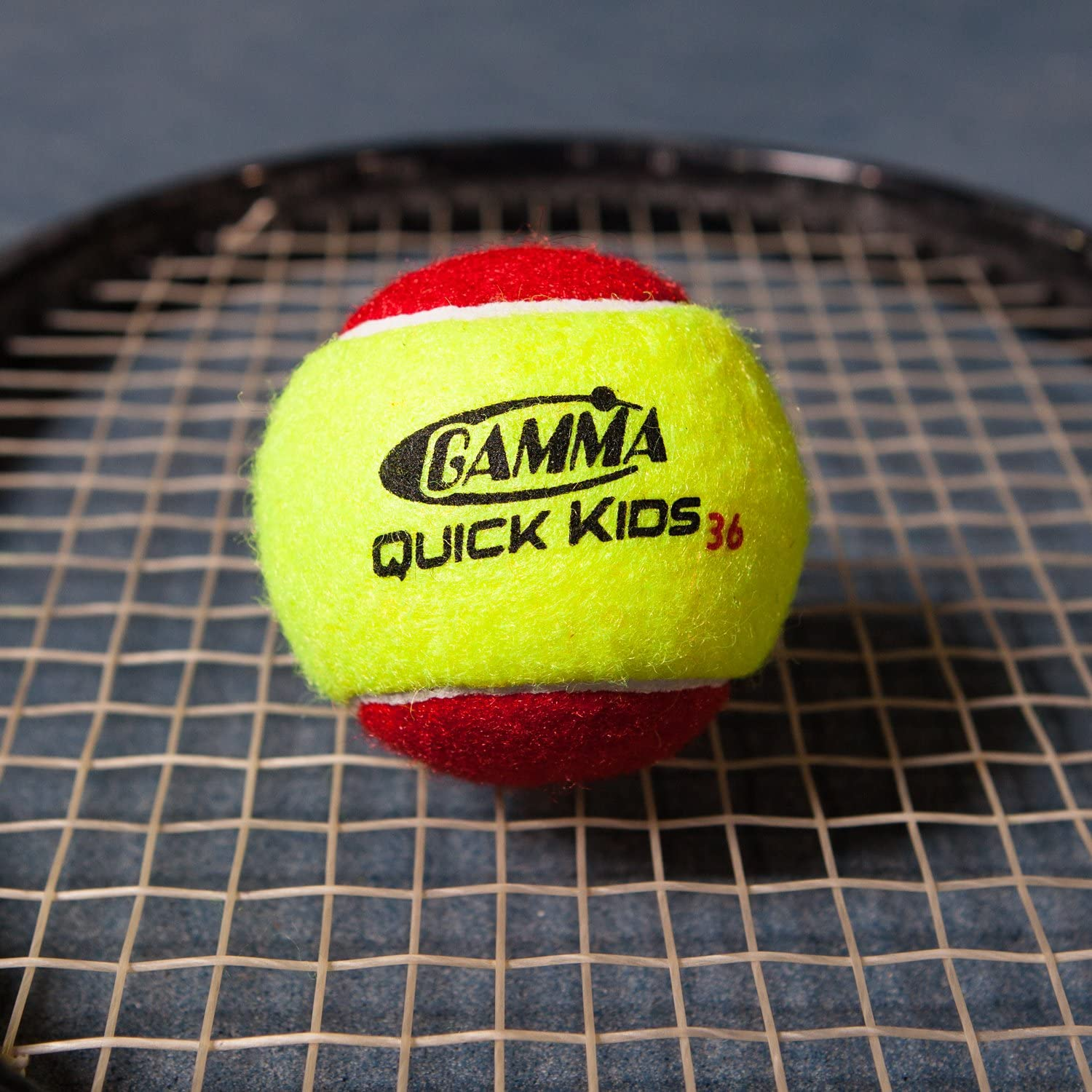 Gamma Beginner Child or Adult Training (Transition) Practice Tennis Balls: Orange or Green Dot, Quick Kids 36, 60, or 78 (25%-50% Slower Ball Speed) - ...