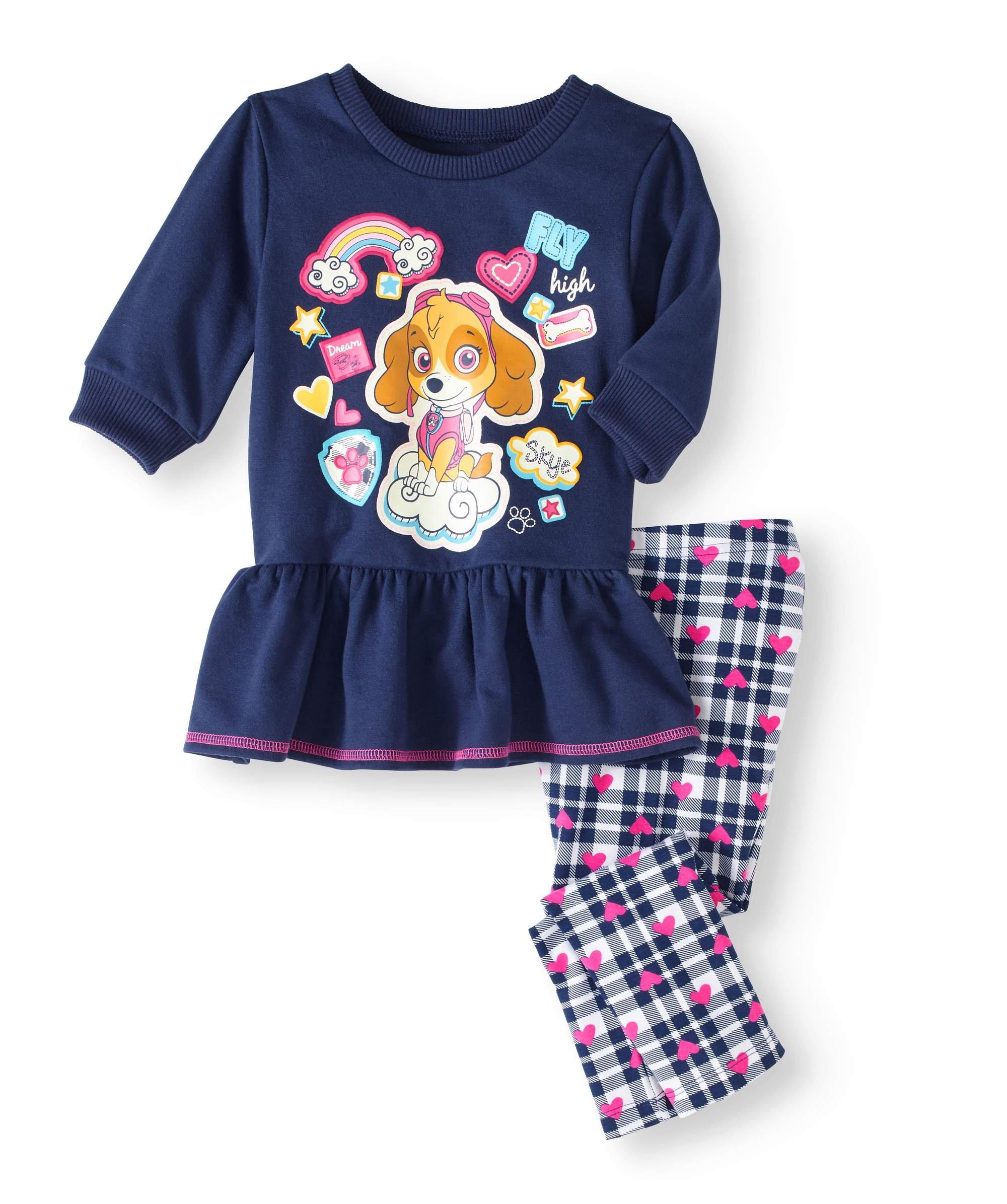 Paw Patrol Skye Toddler Little Girls Tunic & Leggings Outfit Set (2T)