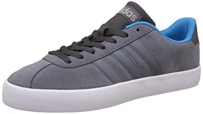 adidas neo Men's Vlcourt Vulc Onix and Solblu Leather Sneakers - 11  UK/India (