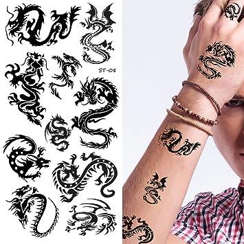 Amazoncom Supperb Temporary Tattoos Small Dragons Small Dragons