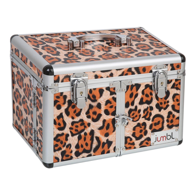 JUMBL Leopard Print Cosmetic Jewelry Train Case