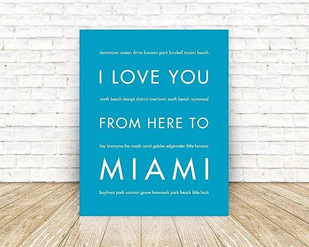 Amazon Com Miami Florida Unframed Giclee Premium Fine Art