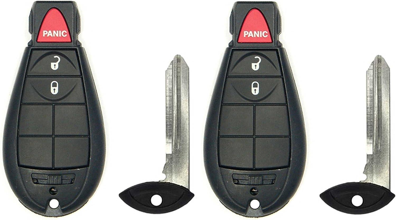 1 New Uncut Keyless Fobik Key Fob Remote Start for Select Chrysler Dodge w//FREE DIY Programming Guide CanadaAutomotiveSupply /©