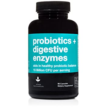 Probiotics + Digestive Enzymes - Premium Combination Digestive Enzymes Supplement w/ 15...